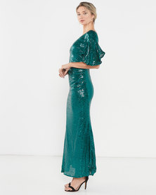 Glitz n Glam Sequin Gown - Green