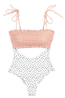 Princess Lola Boutique - Beach Vixen Smocked Monokini - White