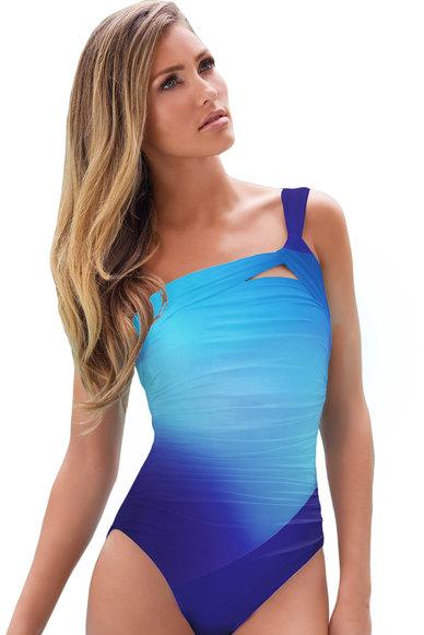 Princess Lola Boutique - Obsession Ombre Fade Monokini - Blue