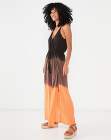 Allegoria Tie Dye Jumpsuit Ombre Orange