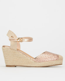 Polo Delia Espadrille Wedges Pink