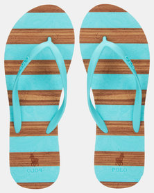 Polo Morgan Kayla Striped Flip Flops