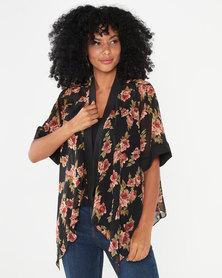 Revenge Kimono Short Sleeve Jacket Black