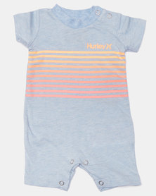 Hurley Ombre Stripe Shortall Chambray Blue Heather
