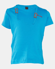 Soviet Boys New Hull V-Neck Short Sleeve Tee Blue