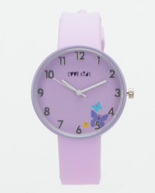 Cool Kids Girls Secret Garden Watch Lilac