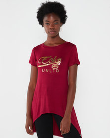 ECKÓ Unltd Hi Lo Logo Top Red