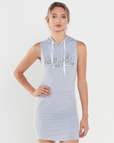 ECKÓ Unltd Sleeveless Fleece Dress Grey