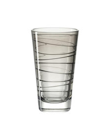 Leonardo Tall Drinking Glass Basalt Grey VARIO Set of 6