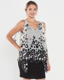 Utopia Animal Border Print Tunic Dress Multi