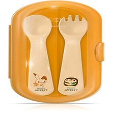 Phillips Avent Toddler Cutlery Set with travel case