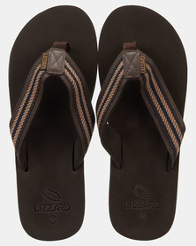 Lizzard Forester Flip Flops Brown