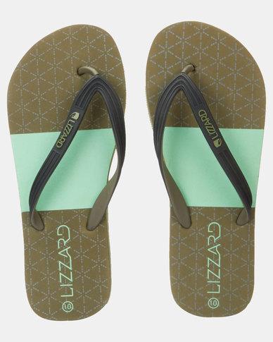 Lizzard Vivid Flip Flops Olive