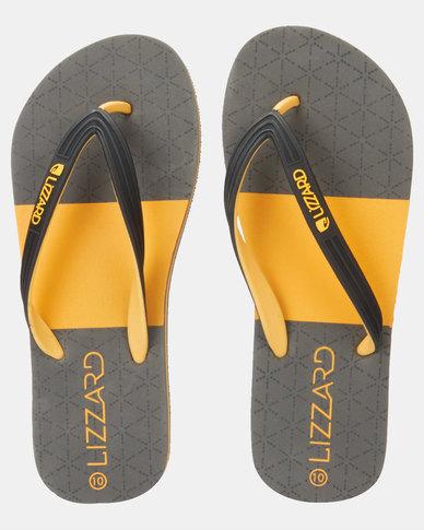 Lizzard Vivid Flip Flops Mustard