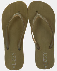 Lizzy Janise Flip Flop Olive