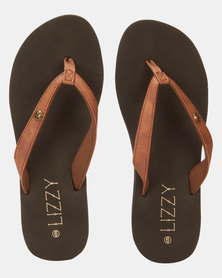 Lizzy Adrina Wedge Flip Flop Brown