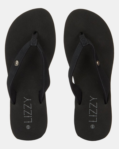 Lizzy Adrina Wedge Flip Flop Black