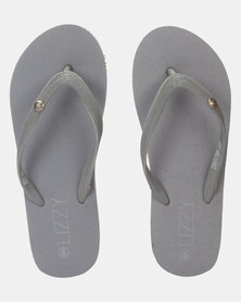 Lizzy Keilah Plait Flip Flop Charcoal