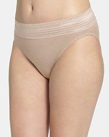 Warner's Lace Cotton Hi-Cut Brief Nude - No Pinching. No Problem