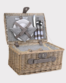 Marco 2-Person Wicker Picnic Basket Ligh Brown