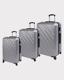 Marco Excursion Luggage Bag Set of 3. Silver
