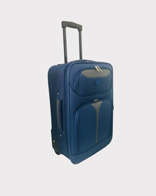 Marco Soft Case Luggage Bag - 24 inch Blue-Grey