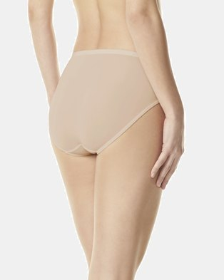 Warner's Microfibre Hi-Cut Brief Nude - No Pinching, No Problems
