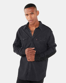 Patched Modern Western Shirt