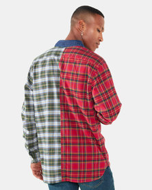 Pieced Sunset One Pocket Shirt