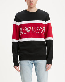 Pieced Crewneck Sweatshirt