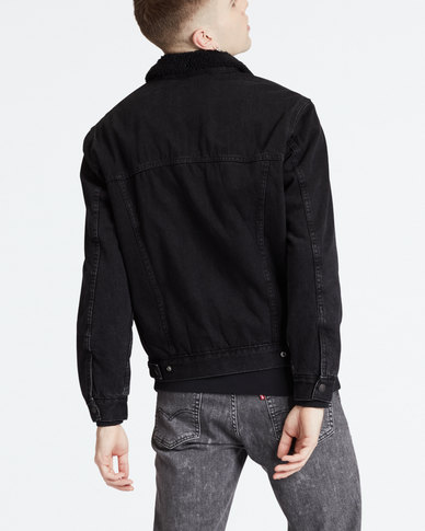 Patch Pocket Sherpa Trucker Jacket