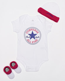 Converse Classic Baby Grow Set Navy/Red
