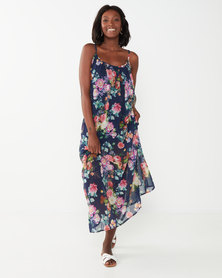 Utopia Floral Aline Maxi Dress Navy