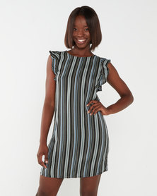 Utopia Tribal Stripe Basic Tunic Dress