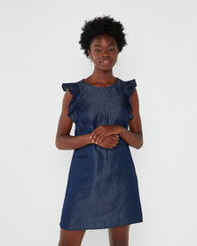 Utopia Denim Basic Tunic Dress Blue