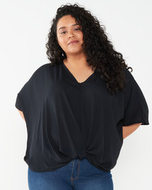 Utopia Plus Twist Front Top Black