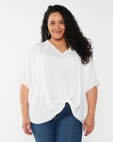 Utopia Plus Twist Front Top White