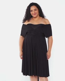 Infinity Dress SA Plus Size Black Cocktail Amber Rose Wrap Dress
