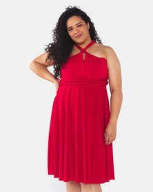 Infinity Dress SA Plus Size Red Cocktail Amber Rose Wrap Dress