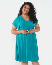 Infinity Dress SA Plus Size Turquoise Cocktail Amber Rose Wrap Dress