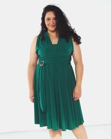 Infinity Dress SA Plus Size Bottle Green Cocktail Amber Rose Wrap Dress