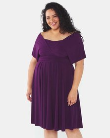 Infinity Dress SA Deep plum Plus Size Infinity Dress Bra Friendly
