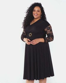 Infinity Dress SA Black Plus Size Infinity Dress Bra Friendly