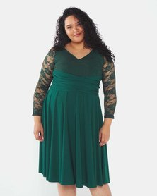 Infinity Dress SA Bottle Green Plus Size Infinity Dress Bra Friendly