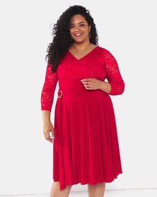 Infinity Dress SA Red Plus Size Infinity Dress Bra Friendly