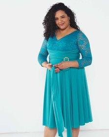 Infinity Dress SA Turquoise Plus Size Infinity Dress Bra Friendly