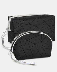 Cazabella Cosmetic Bag Combo - Black Geometric