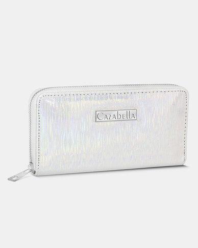 Cazabella Silver Gabriella Shimmer Patent Purse