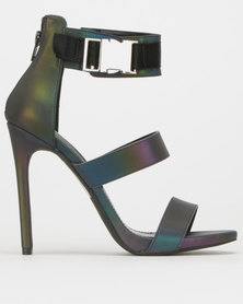 Steve Madden Felice Dress Heels Metallic Multi
