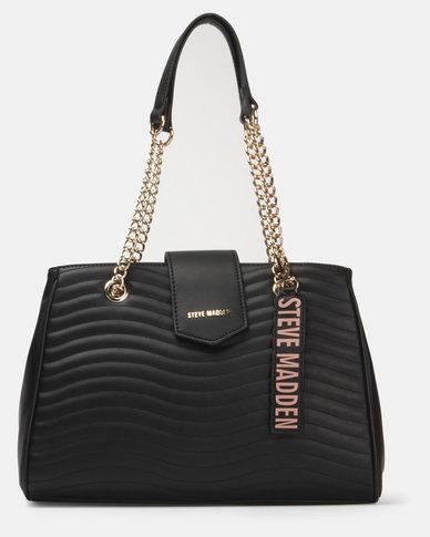 Steve Madden Browan Satchel Bag Black